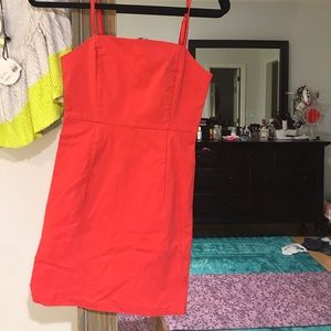 Red fitted mini dress XS